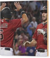David Peralta and Paul Goldschmidt Wood Print