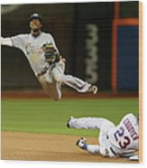 Dee Gordon and Michael Cuddyer Wood Print