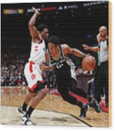 Demar Derozan and Kyle Lowry Wood Print