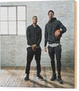 Demar Derozan and Kyle Lowry Wood Print