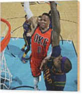 Demarcus Cousins and Russell Westbrook Wood Print