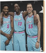 Derrick Jones and Bam Adebayo Wood Print