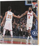 Derrick Rose and Kyle O'quinn Wood Print