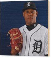 Detroit Tigers Photo Day Wood Print