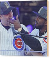 Dexter Fowler and Anthony Rizzo Wood Print
