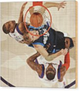 Dirk Nowitzki, Grant Hill, and Amar'e Stoudemire Wood Print