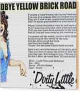Dirty little girl 1973 Wood Print