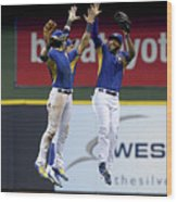 Domingo Santana and Ryan Braun Wood Print