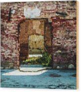 Doorway to the past Wood Print