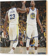 Draymond Green and Kevin Durant Wood Print
