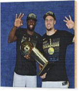 Draymond Green and Klay Thompson Wood Print