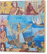 Dream of fisherman Wood Print