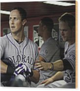 Drew Stubbs and Justin Morneau Wood Print