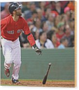 Dustin Pedroia Wood Print