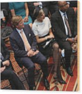 Dutch King And Queen Visit Washington, Attend Global City Team Challenge Event Wood Print