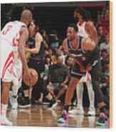 Dwyane Wade and Chris Paul Wood Print