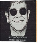 Elton John Artwork Wood Print