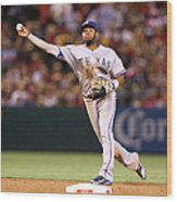 Elvis Andrus and Grant Green Wood Print