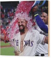 Elvis Andrus and Rougned Odor Wood Print