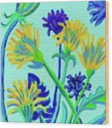 Enchanted with Dandelions Wood Print