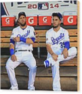 Eric Hosmer And Alex Gordon Wood Print