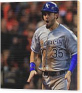 Eric Hosmer and Omar Infante Wood Print