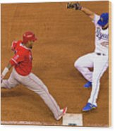 Eric Hosmer and Yunel Escobar Wood Print
