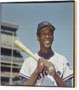 Ernie Banks Wood Print