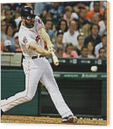 Evan Gattis Wood Print