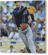 Evan Longoria and Mark Ellis Wood Print