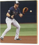 Evan Longoria and Mike Trout Wood Print
