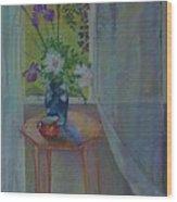 Evening Peonies and Iris        copyrighted Wood Print