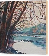 Fall on the New River Wood Print