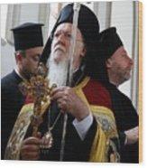 Fener-Greek Patriarch Bartholomew presides mass in Izmir Wood Print