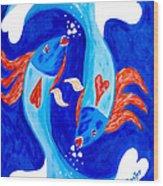 Fish Love Wood Print