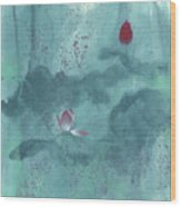 For the Love of Lotus Wood Print