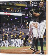 Francisco Cervelli and Gregory Polanco Wood Print