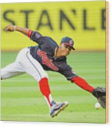 Francisco Lindor and Chase Headley Wood Print