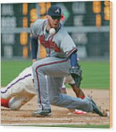 Freddie Freeman and Jimmy Rollins Wood Print