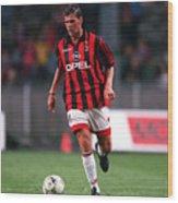 FUSSBALL: italienische Liga 97/98 AC MAILAND 28.07.97 Wood Print