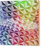 Geo Rainbow Sphere Wood Print