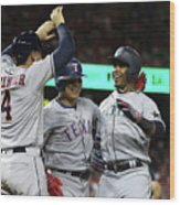 George Springer, Jean Segura, and Shin-soo Choo Wood Print
