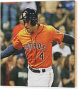 George Springer Wood Print