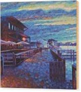 Georgetown Harborwalk Wood Print