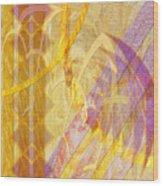Gold Fusion Wood Print