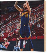 Golden State Warriors v Houston Rockets Wood Print
