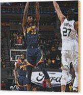 Golden State Warriors v Utah Jazz Wood Print