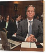 Google CEO Testifies At Senate Hearing On Antitrust Policy Wood Print