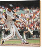 Gorkys Hernandez and Buster Posey Wood Print
