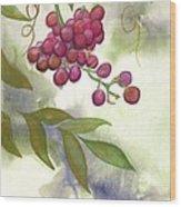 Grapes Divine Wood Print